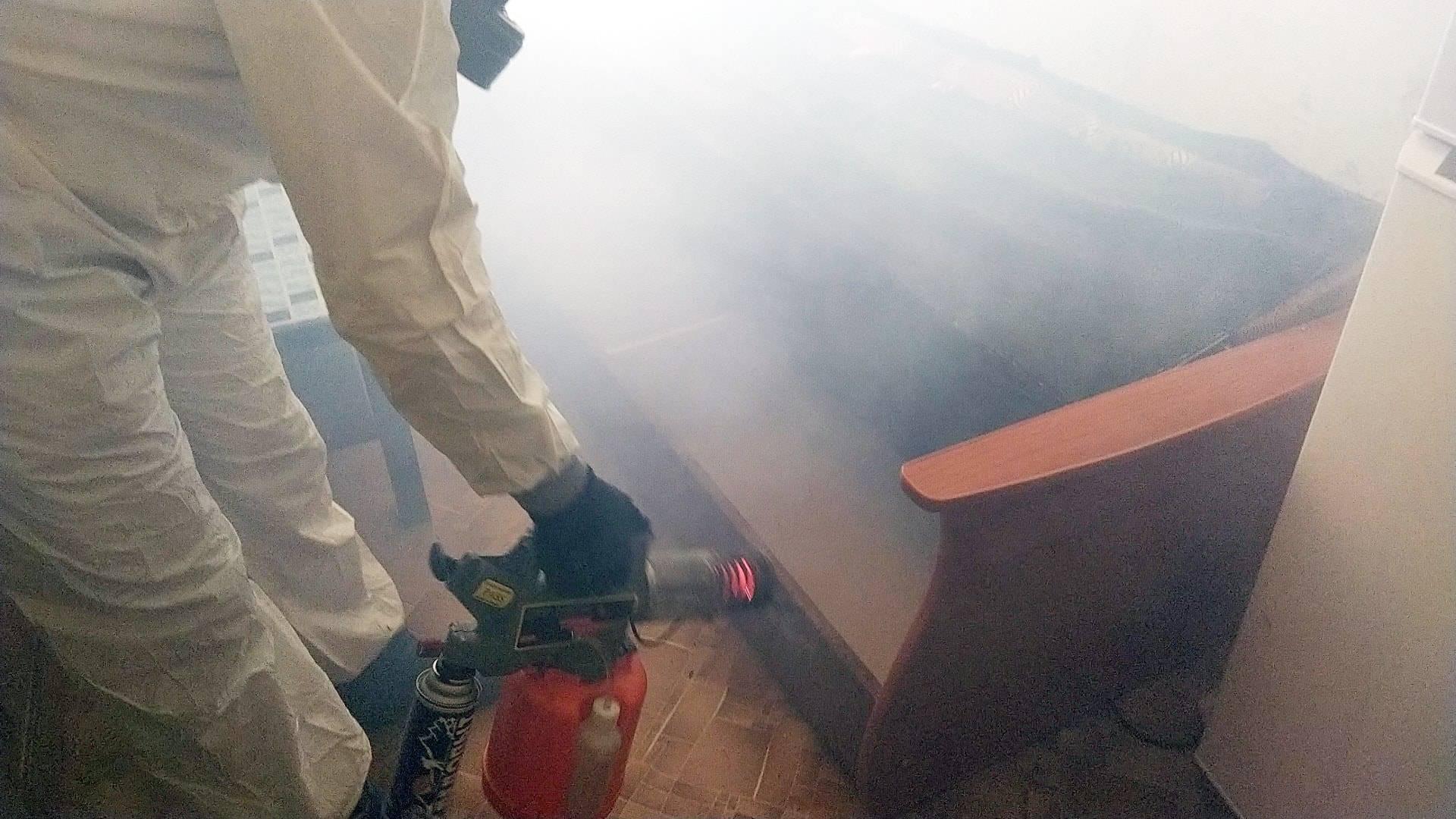 Обработка квартиры от клопов генератором холодного тумана