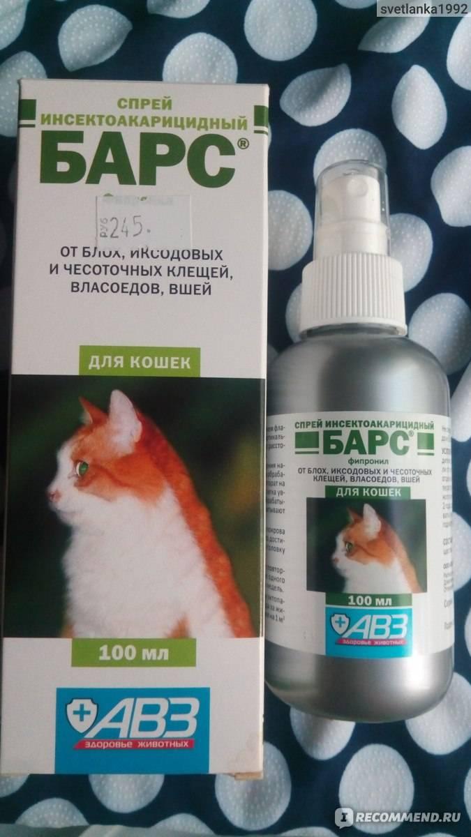 Спрей барс от блох для кошек и собак – инструкция по применению, отзывы