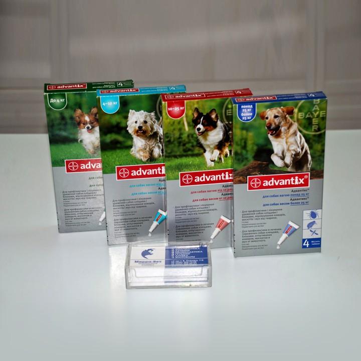 Адвантикс для собак: инструкция по применению и отзывы