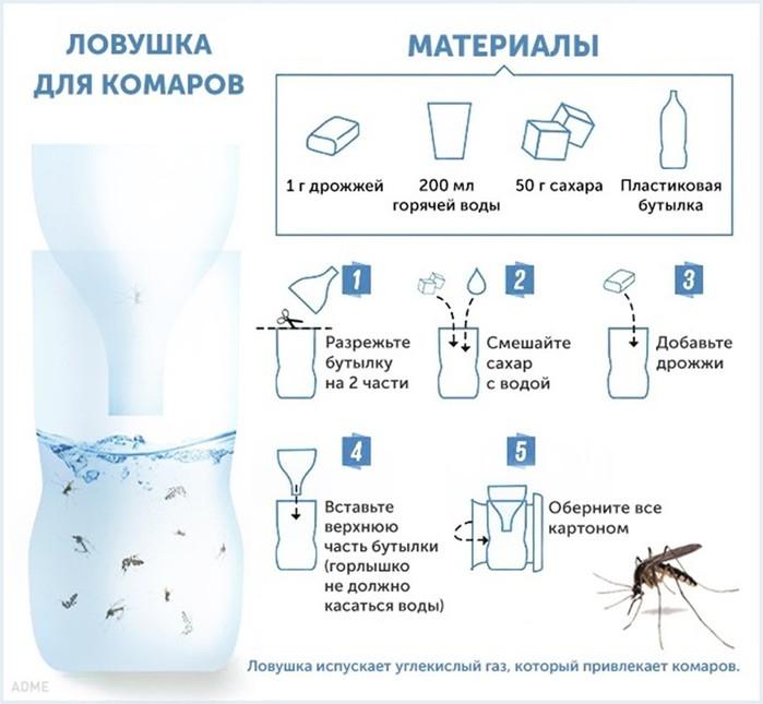 Ловушка для комаров своими руками / как избавится от насекомых в квартире