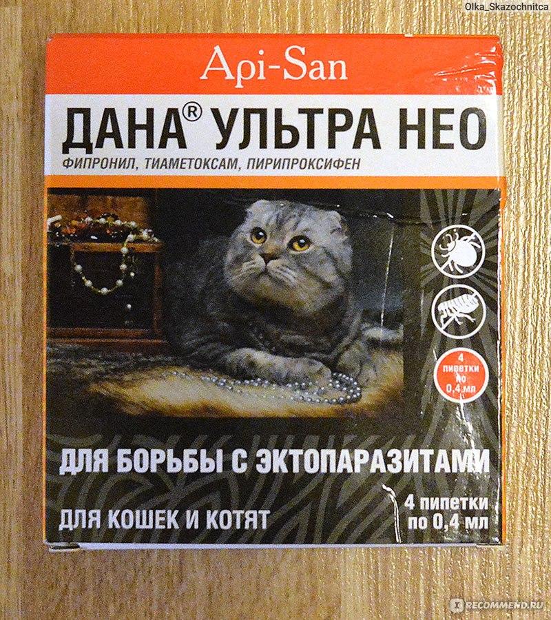 Капли дана для кошек инструкция