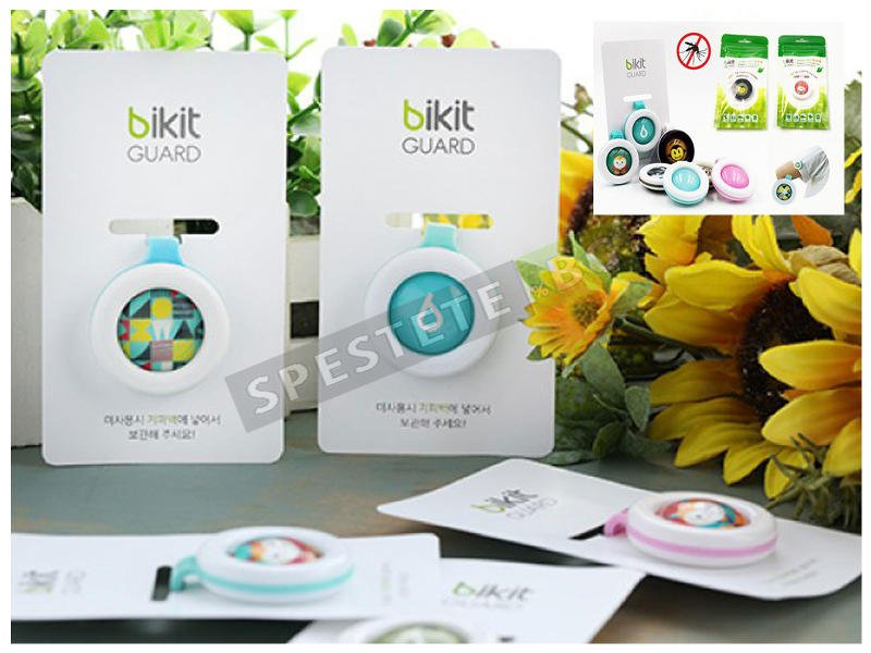Использование кнопки bikit guard от комаров