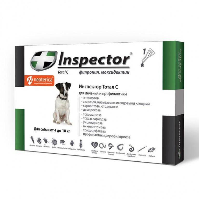 Инспектор от глистов: эффективность, сфера применения капель на холку для животных