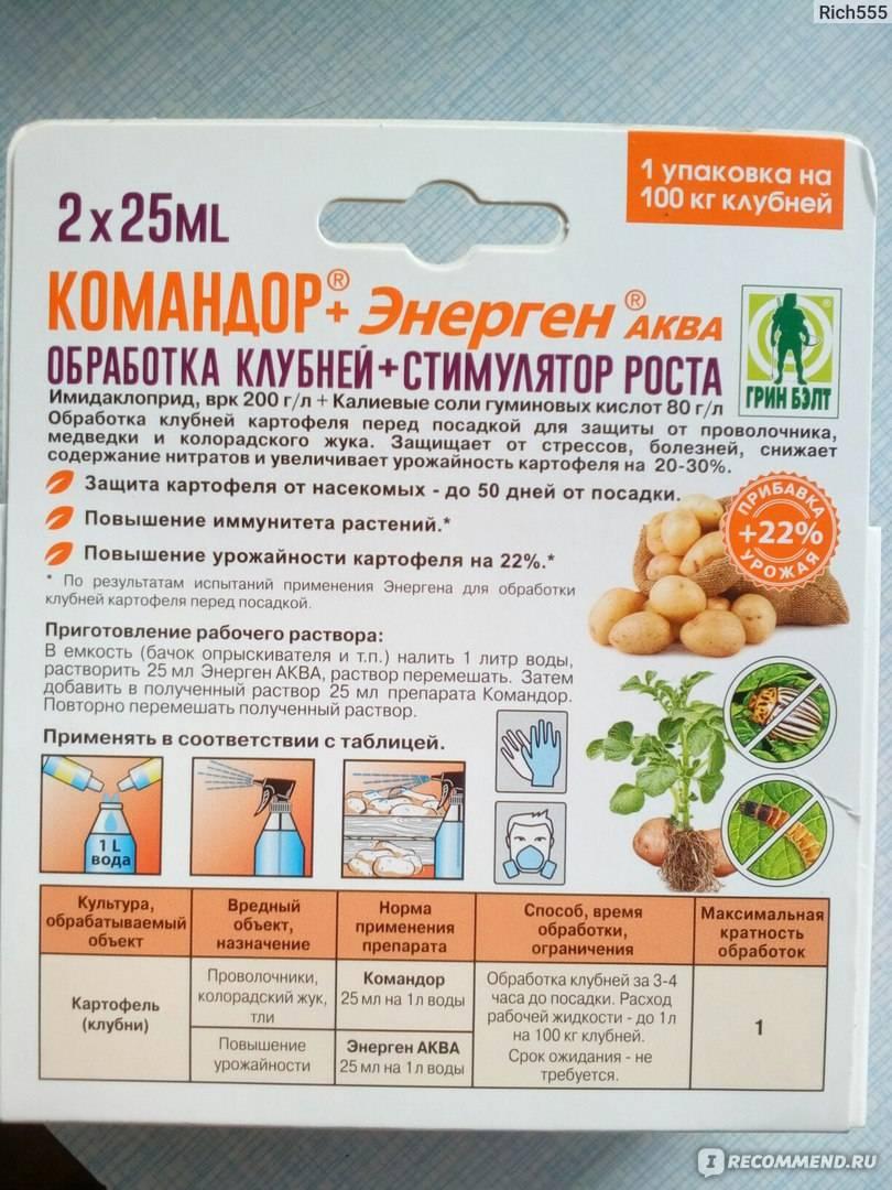 Эффективность и правила применения препарата «командор» от колорадского жука
