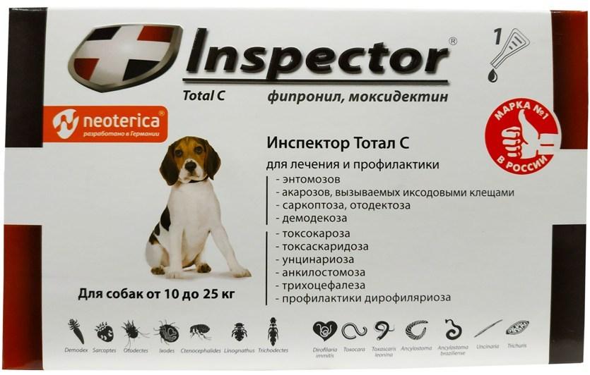 Капли инспектор для собак: показания к применению, дозировка, аналоги