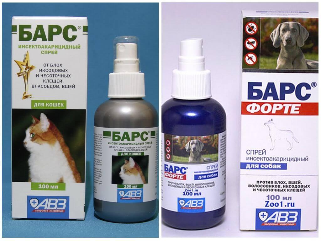 Ветеринарный спрей Барс инсектоакарицидный для кошек и собак: инструкция по применению