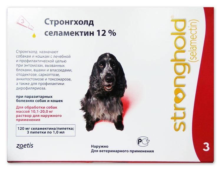 Стронгхолд от клещей для собак и кошек