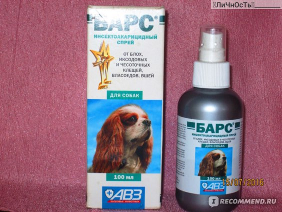 Обзор спрея барс от блох для собак