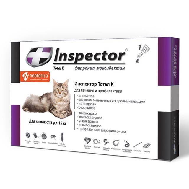 Инструкция по применению и аналоги капель для кошек инспектор
