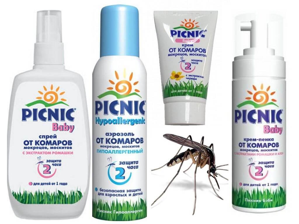 Отзывы о спреях и аэрозолях от клещей и комаров: picnic baby, picnic super, bio active и family