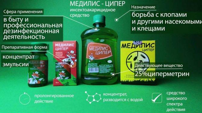 «медилис ципер»: действенное средство от различных типов насекомых