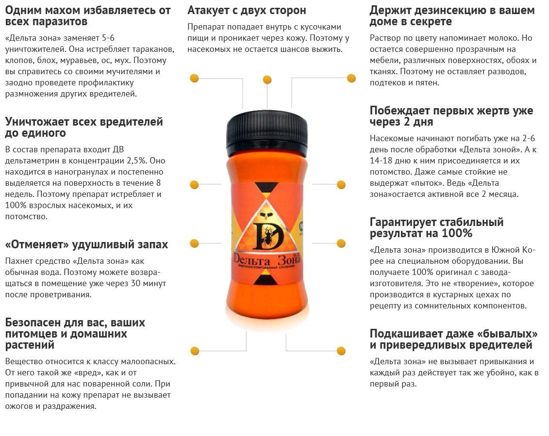 Средства от клопов: фенаксин, фас, дельта зона, хлорофос, таран и др. русский фермер