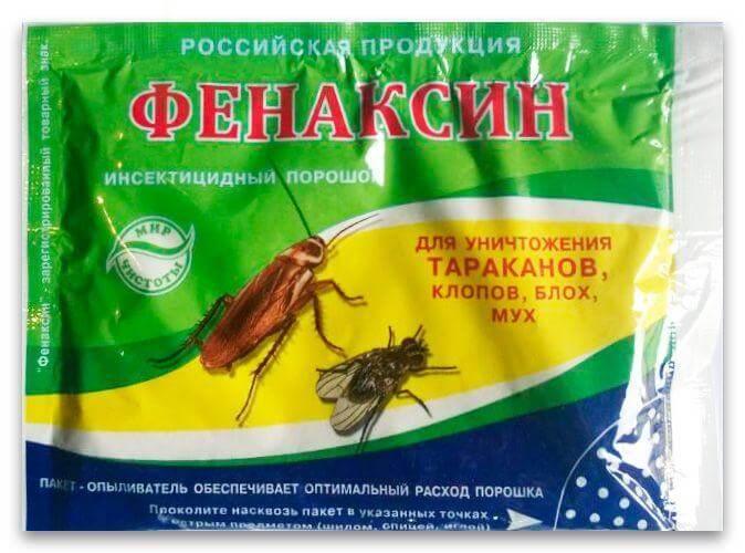 Как применять фенаксин от клопов и тараканов: инструкция по применению, преимущества и недостатки порошка