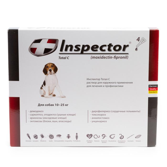 Капли инспектор для собак: состав, дозировка, показания к применению, дозировка, аналоги