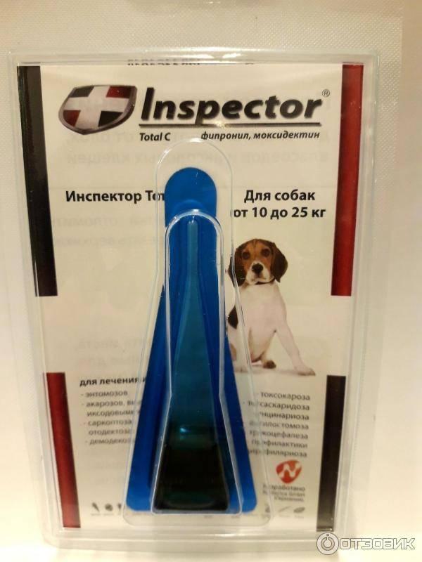 Инспектор от клещей для собак и кошек – отзывы и инструкция