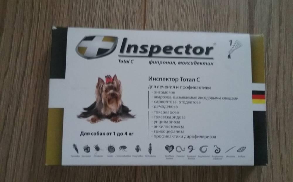 Капли инспектор для собак: инструкция по применению и отзывы