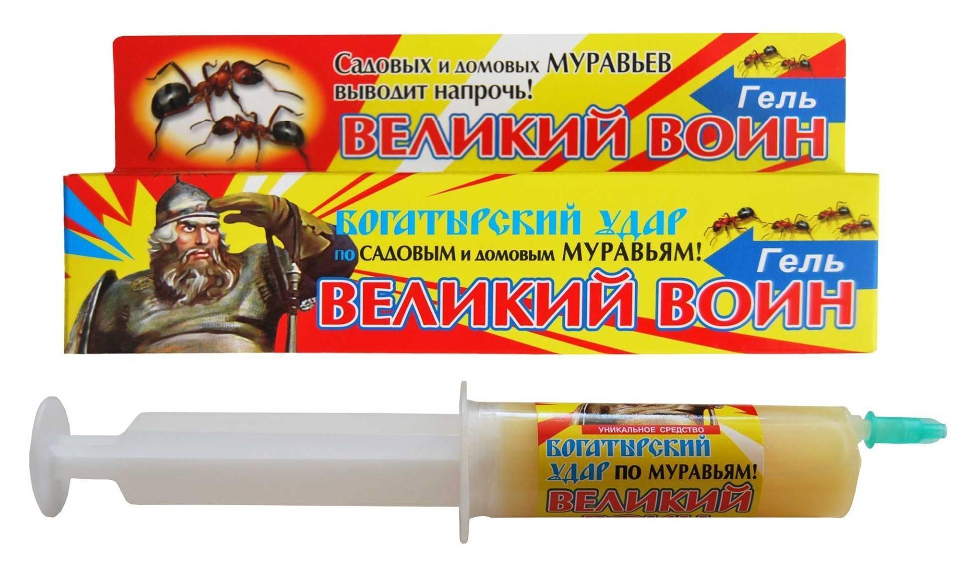 Купить великий воин, 45 г гель от тараканов и муравьев