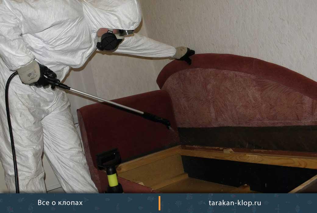 Как вывести клопов из дивана – термальные способы и химикаты