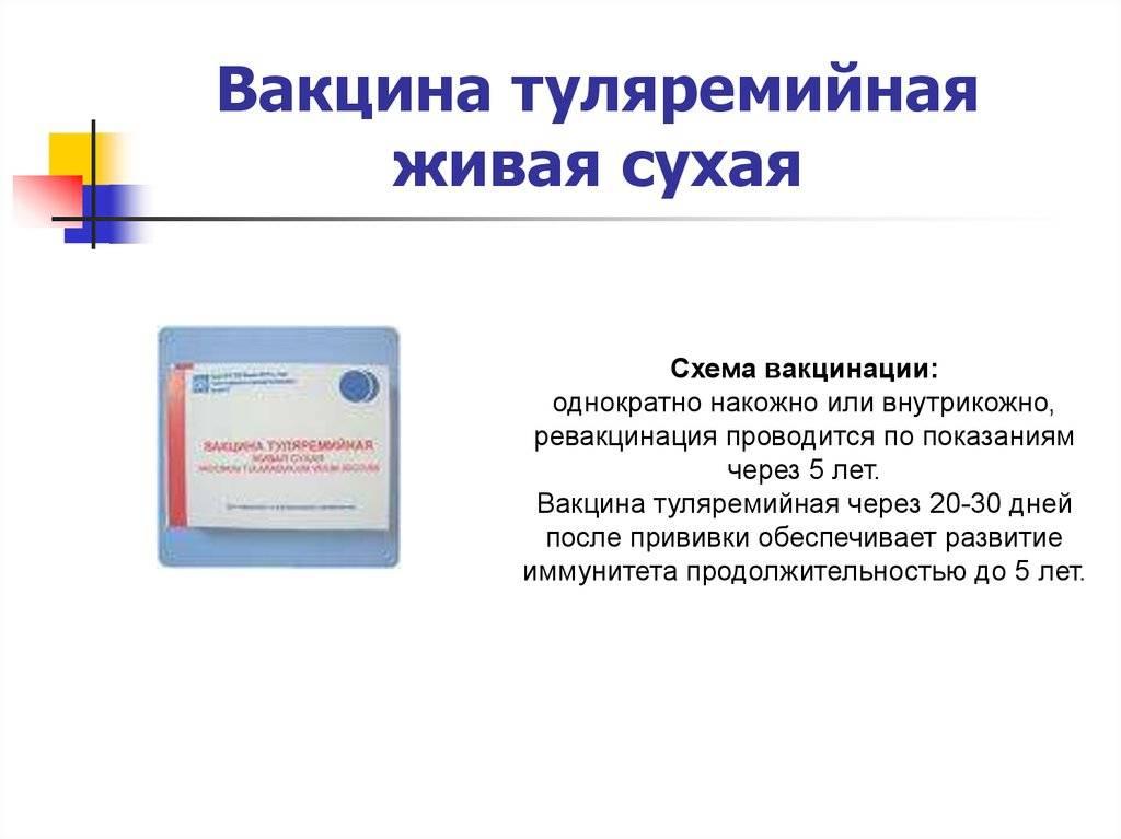 Прививка от туляремии: побочные эффекты и противопоказания