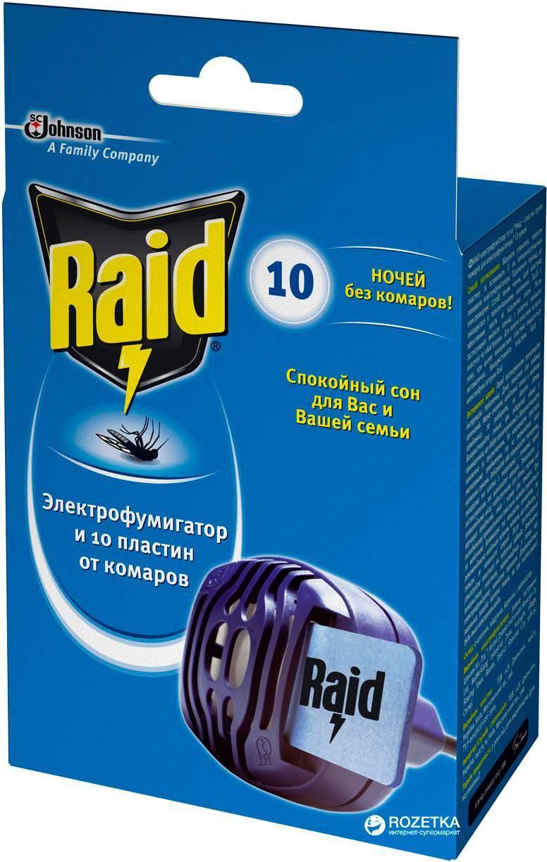 Raid от комаров: особенности применения средства рейд, разновидности