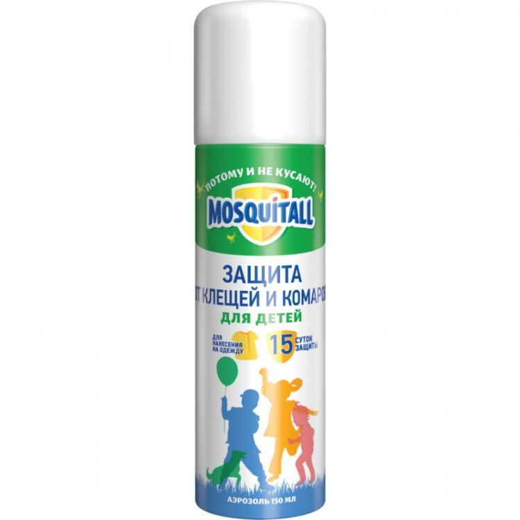 Mosquitall (москитол) аэрозоль от комаров, мокрецов, москитов с экстрактом орхидеи (для детей и взрослых), 150 мл