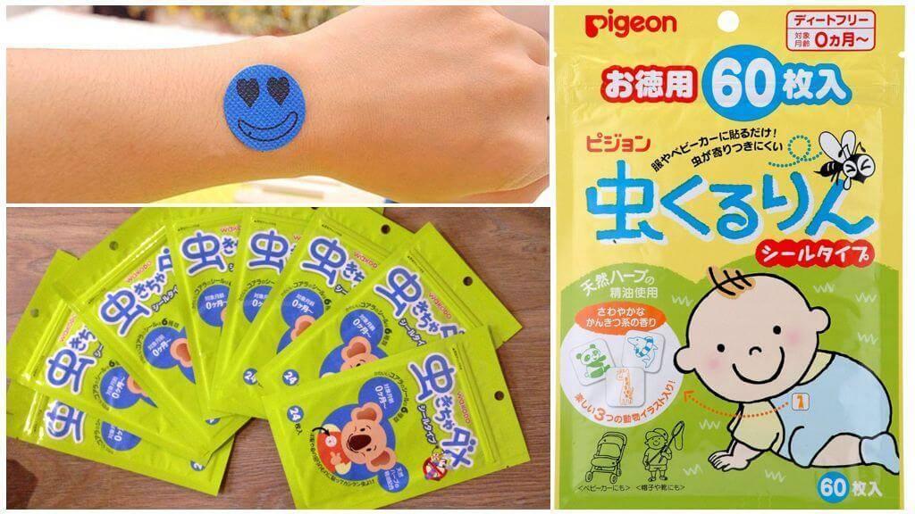 Наклейки на одежду от комаров для детей
