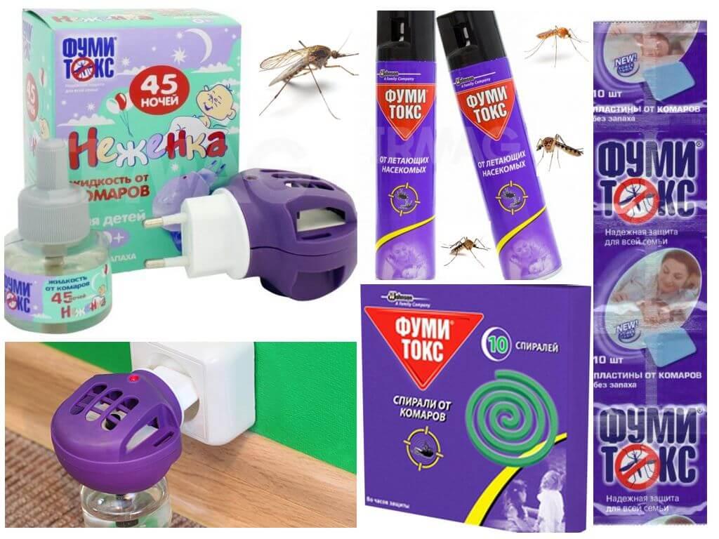 Средства фумитокс от комаров - обзор и отзывы
