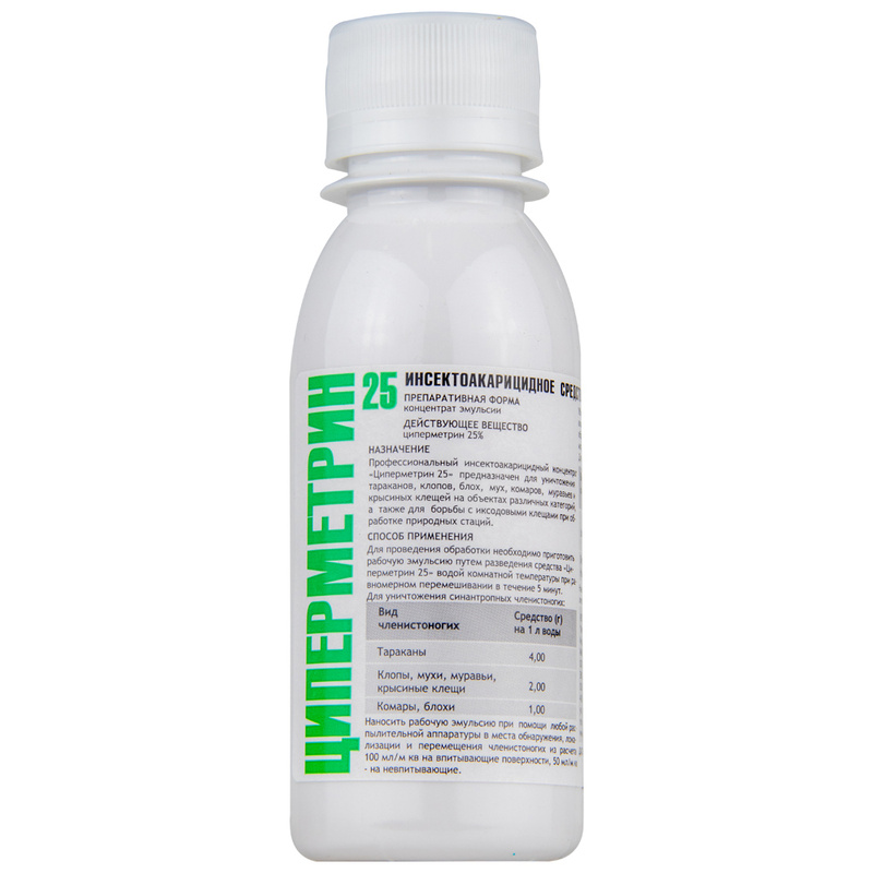 Циперметрин: действие, применение, меры безопасности