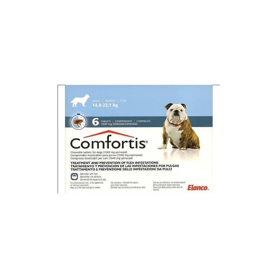 Комфортис – таблетки от блох и клещей для собак и кошек